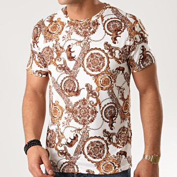 Frilivin - Tee Shirt 71756 Blanc Renaissance