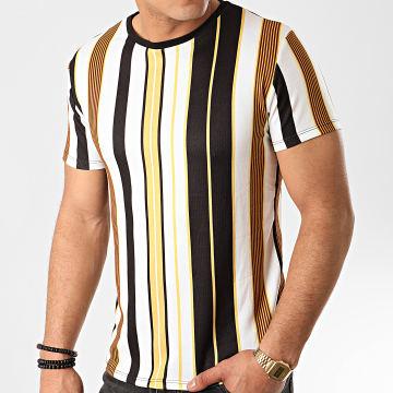 Frilivin - Tee Shirt 71751 Blanc Noir Jaune