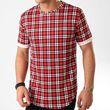 Frilivin - Tee Shirt Oversize A Carreaux 13813H10 Rouge