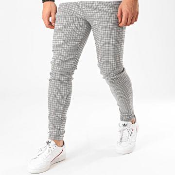 Pantalon A Carreaux 1706 Gris