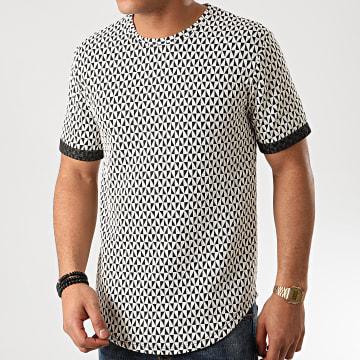 Tee Shirt Oversize 13813H02 Blanc Noir