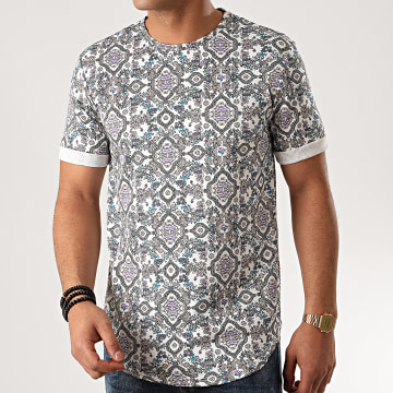 Frilivin - Tee Shirt Oversize 13813H11 Blanc Floral