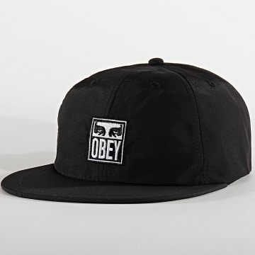 Obey - Casquette Snapback Icon Eyes 6 Panel Noir