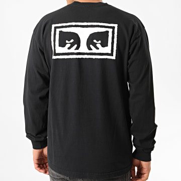 Obey - Tee Shirt Manches Longues Eyes 3 Noir