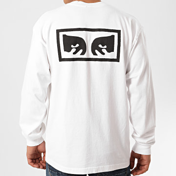 Obey - Tee Shirt Manches Longues Eyes 3 Blanc