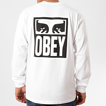 Obey - Tee Shirt Manches Longues Eyes Icon 2 Blanc