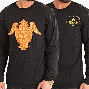 Y et W - Tee Shirt Manches Longues Réversible Gold Noir