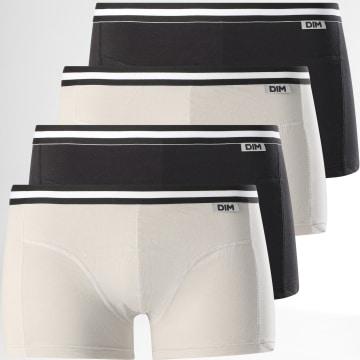Dim - Lot De 4 Boxers D6578 Gris Noir