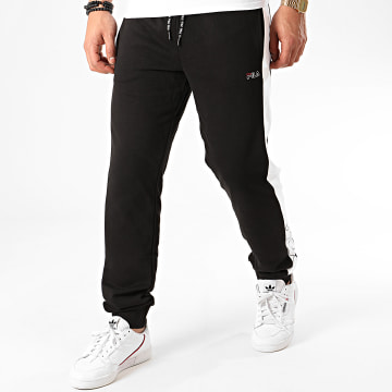 Pantalon Jogging A Bandes Lenny 683088 Noir Blanc