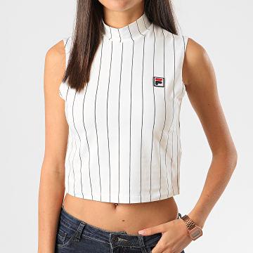 Fila - Débardeur Crop Femme A Rayures Westry 687648 Blanc