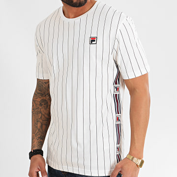 Tee Shirt A Bandes Hades AOP 687641 Ecru