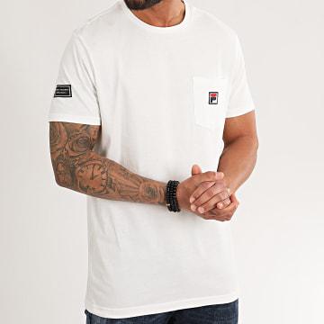 Tee Shirt Poche Taren 687714 Blanc Cassé