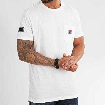 Fila - Tee Shirt Poche Taren 687714 Blanc Cassé