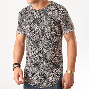 Tee Shirt Oversize Bandana 13815 Noir Rose