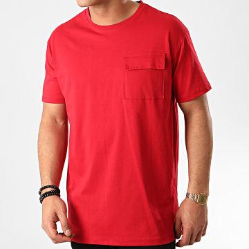 Tee Shirt Poche 13812 Rouge