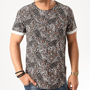Tee Shirt Oversize Bandana 13815 Noir Gris