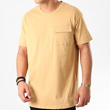 Tee Shirt Poche 13812 Beige Foncé