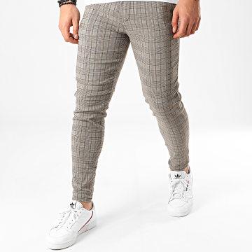 Pantalon A Carreaux 1710 Gris