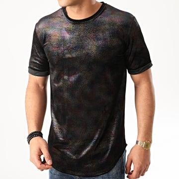 Frilivin - Tee Shirt Oversize Velours Paillettes 13816H18 Noir