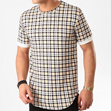 Frilivin - Tee Shirt Oversize A Carreaux 13813H10 Beige