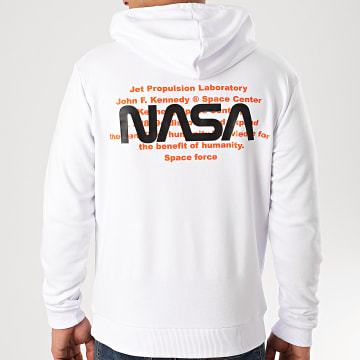 Sweat Capuche Space Force Back Blanc
