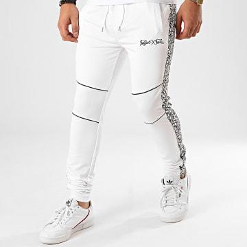 Project X - Pantalon Jogging A Bandes Réfléchissant Iridescent Blanc