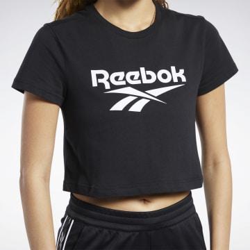 Reebok - Tee Shirt Crop Femme Classics Vector FK2754 Noir