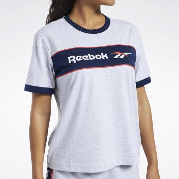 Reebok - Tee Shirt Femme Linear FK2785 Gris Chiné