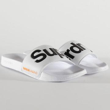Superdry - Claquettes Classic Superdry Blanc