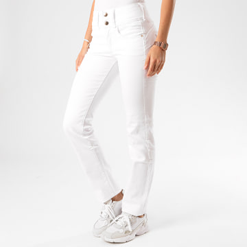 Tiffosi - Jean Slim Femme Double Up 248 Blanc