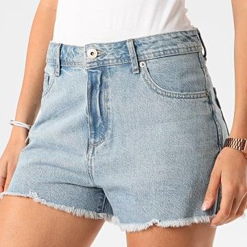 Tiffosi - Short Jean Slim Femme Babsy 38 Bleu Wash
