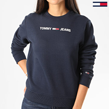 Tommy Jeans - Sweat Crewneck Femme Essential Logo 7976 Bleu Marine