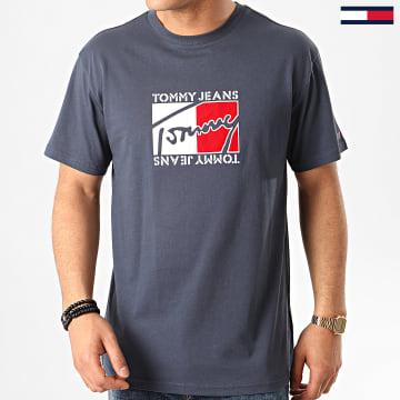Tee Shirt Flag Script 7433 Bleu Marine