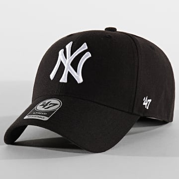 '47 Brand - Casquette MVP Adjustable MVPSP17WBP New York Yankees Noir Blanc