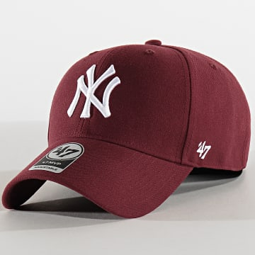 '47 Brand - Casquette MVP Adjustable MVPSP17WBP New York Yankees Bordeaux