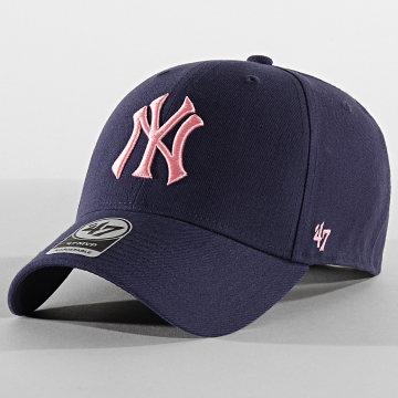 Casquette MVP Adjustable MVPSP17WBP New York Yankees Bleu Marine Rose
