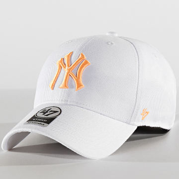 '47 Brand - Casquette MVP Adjustable MVPSP17WBP New York Yankees Blanc Orange