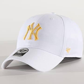 '47 Brand - Casquette MVP Adjustable MVPSP17WBP New York Yankees Blanc Jaune
