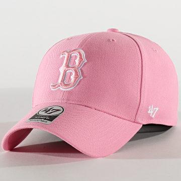 '47 Brand - Casquette MVP Adjustable MVP02WBV Boston Red Sox Rose