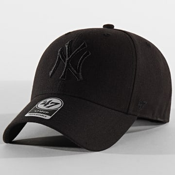 '47 Brand - Casquette MVP Adjustable MVPSP17WBP New York Yankees Noir Noir