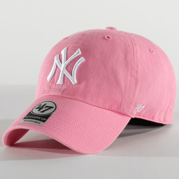 '47 Brand - Casquette '47 Clean Up Adjustable RGW17GWSNL New York Yankees Rose