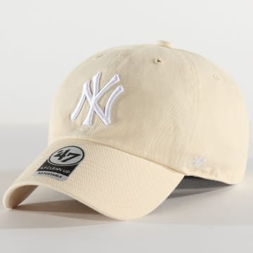 '47 Brand - Casquette '47 Clean Up Adjustable RGW17GWSNL New York Yankees Beige