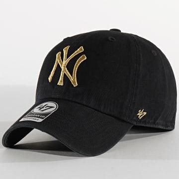 Casquette '47 Metallic Clean Up Adjustable MTCLU17GWS New York Yankees Noir Doré
