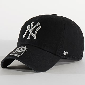 Casquette '47 Metallic Clean Up Adjustable MTCLU17GWS New York Yankees Noir Argent