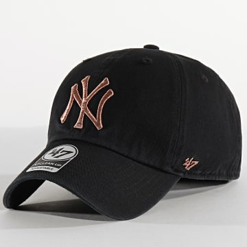 Casquette '47 Metallic Clean Up Adjustable MTCLU17GWS New York Yankees Noir Rose