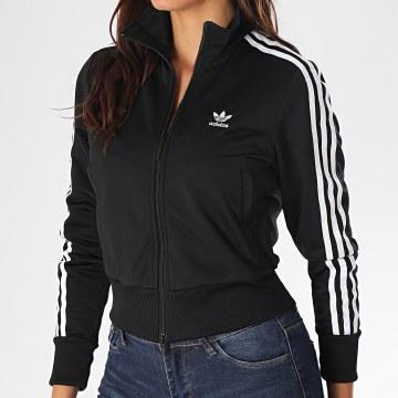 Adidas Originals - Veste Zippée Femme A Bandes Firebird FM3269 Noir