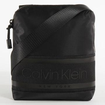 Calvin Klein - Sacoche Striped Logo Mini Reporter 5377 Noir