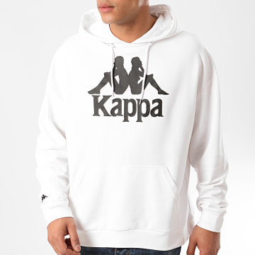 Kappa - Sweat Capuche Authentic Tenax 3111GBW Blanc