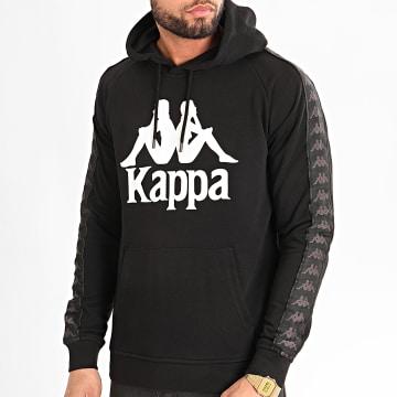 Kappa - Sweat Capuche A Bandes Hurtados 3111HWW Noir