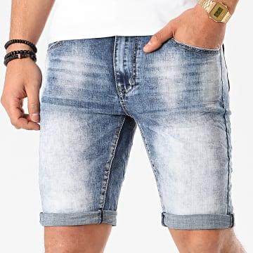 Terance Kole - Short Jean Skinny 18012 Bleu Denim
